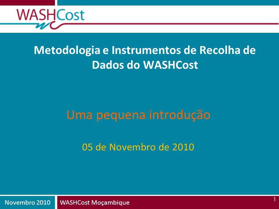 Metodologia e Instrumentos de Recolha de Dados do WASHCost