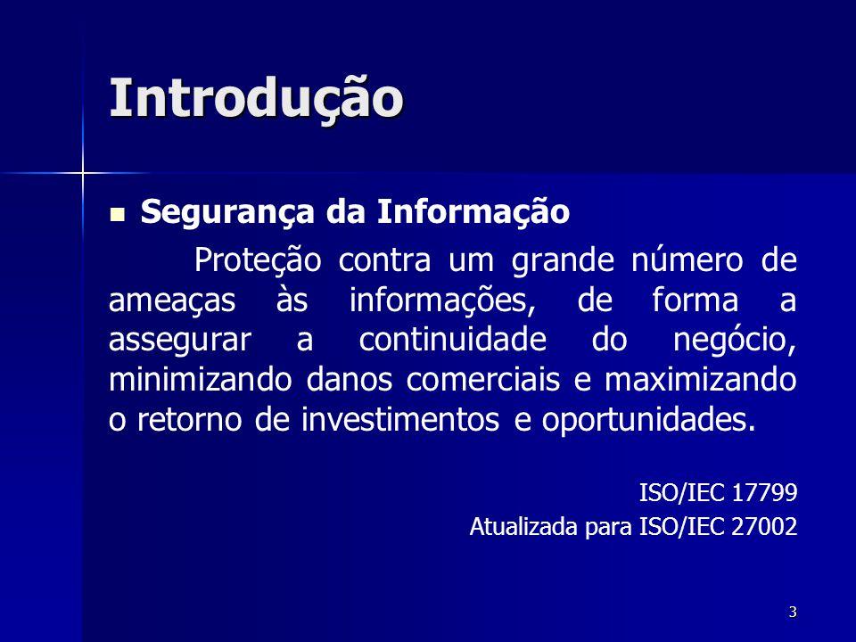 Introdução Segurança da Informação