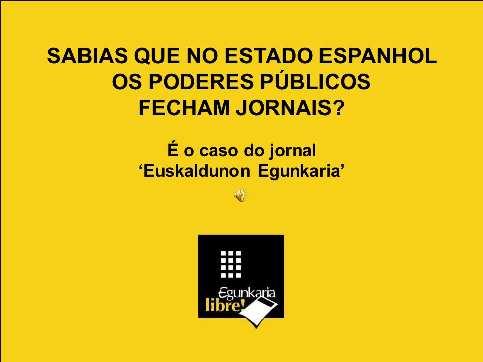 SABIAS QUE NO ESTADO ESPANHOL OS PODERES PÚBLICOS