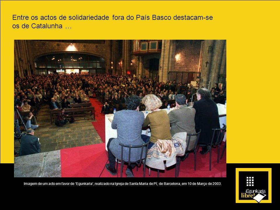 Entre os actos de solidariedade fora do País Basco destacam-se