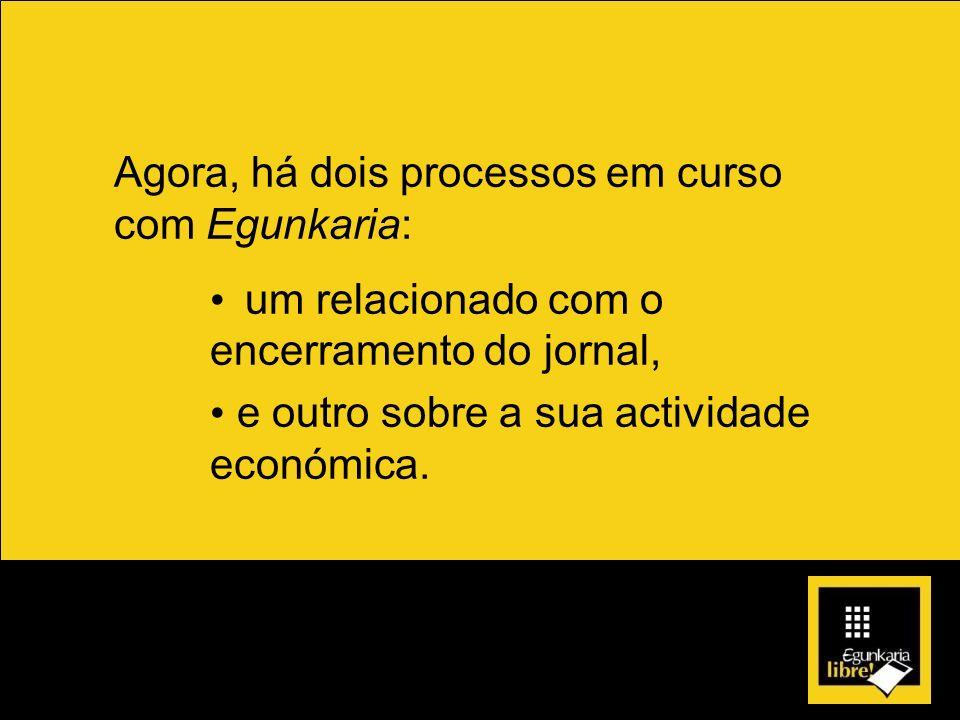 Agora, há dois processos em curso com Egunkaria: