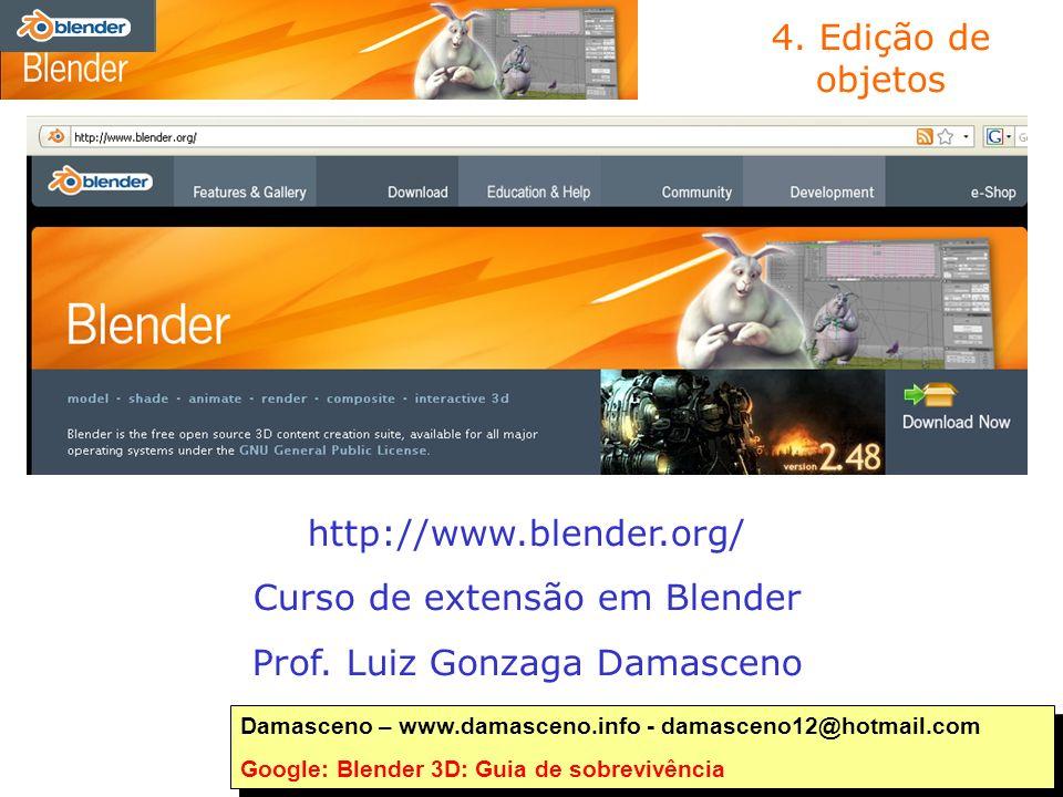 Curso de extensão em Blender Prof. Luiz Gonzaga Damasceno