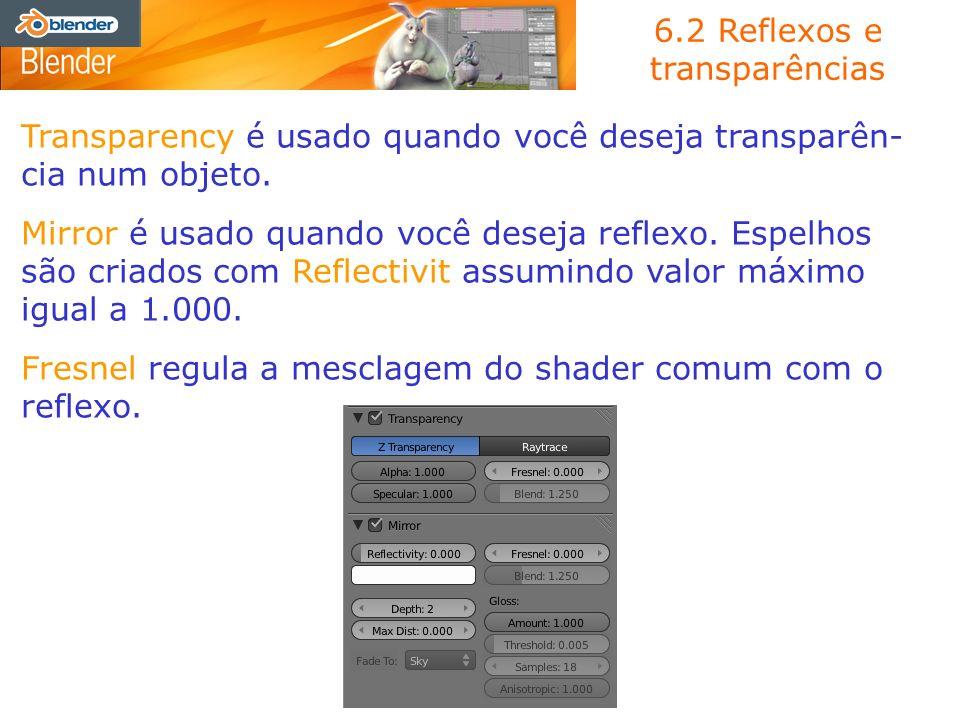 6.2 Reflexos e transparências