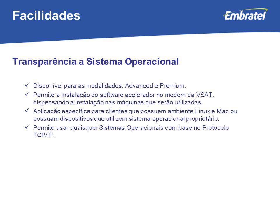 Facilidades Transparência a Sistema Operacional