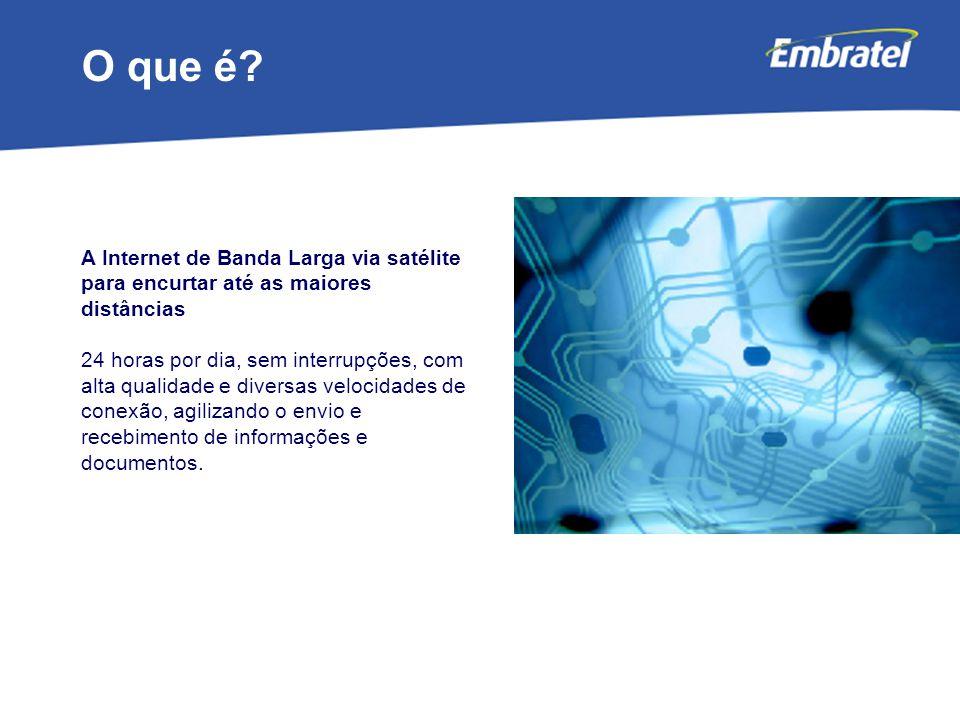 O que é A Internet de Banda Larga via satélite para encurtar até as maiores distâncias.