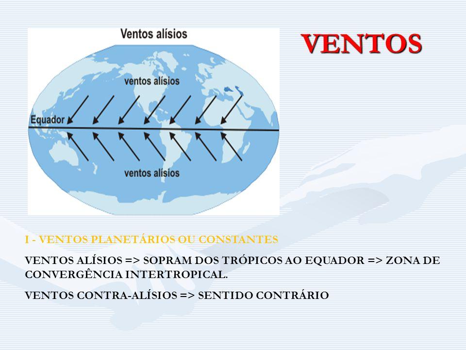 VENTOS I - VENTOS PLANETÁRIOS OU CONSTANTES