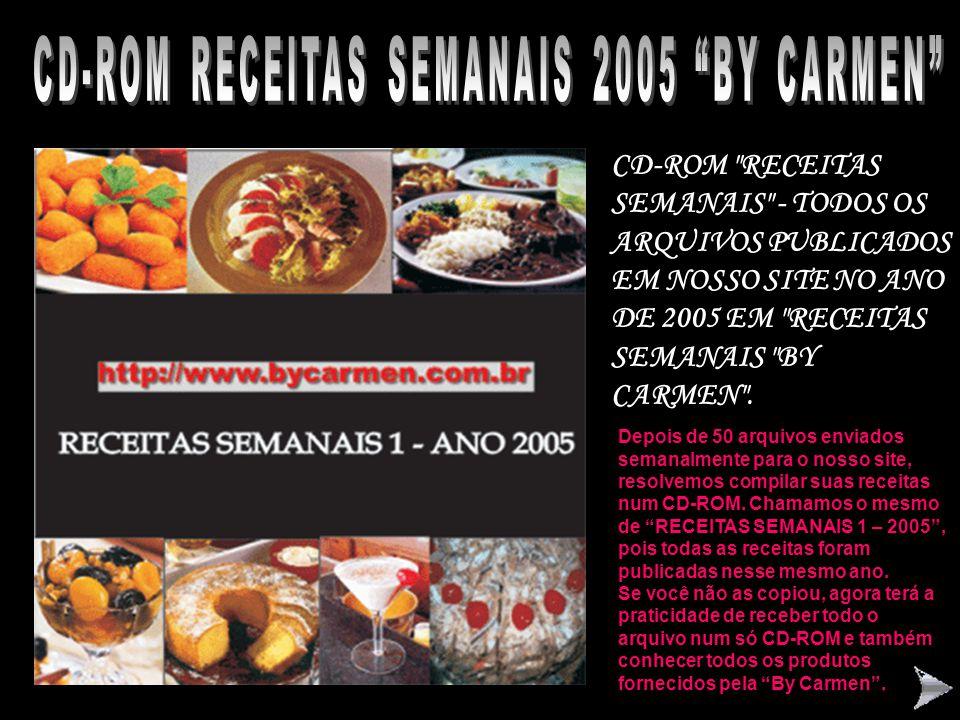 CD-ROM RECEITAS SEMANAIS 2005 BY CARMEN