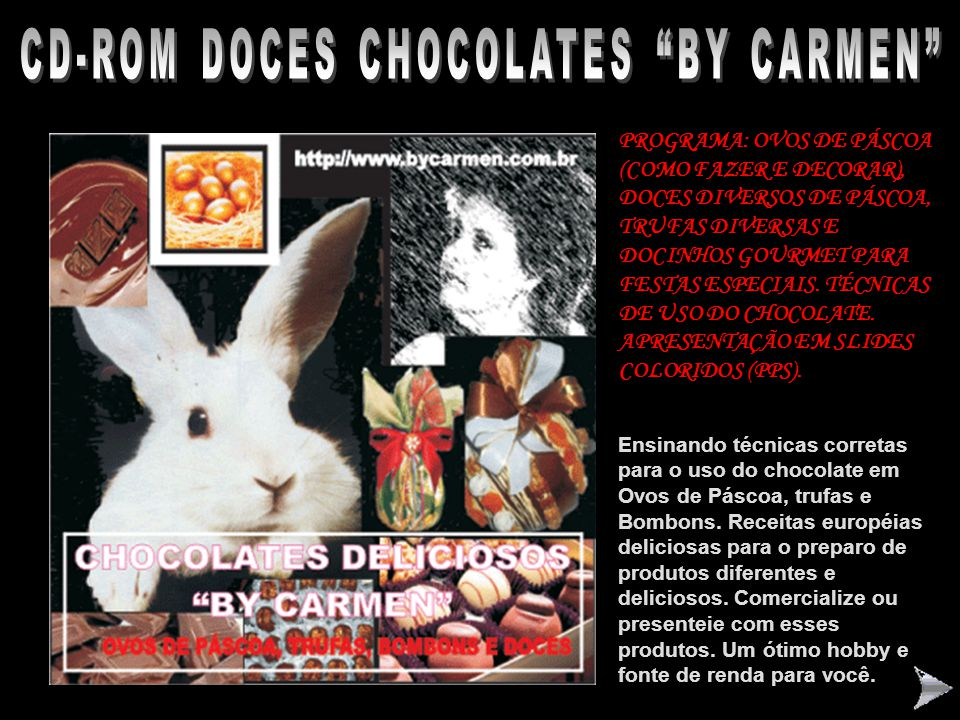 CD-ROM DOCES CHOCOLATES BY CARMEN