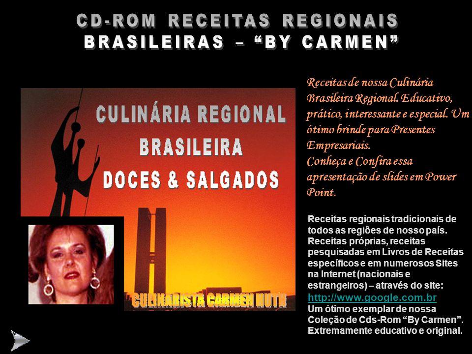 CD-ROM RECEITAS REGIONAIS BRASILEIRAS – BY CARMEN