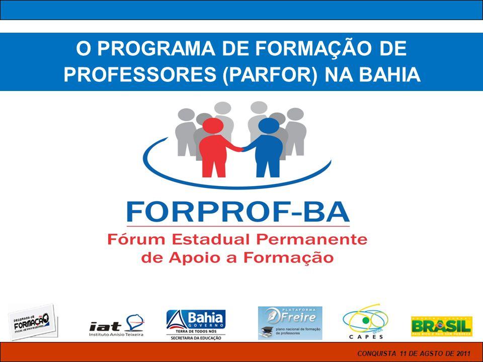 O PROGRAMA DE FORMAÇÃO DE PROFESSORES (PARFOR) NA BAHIA