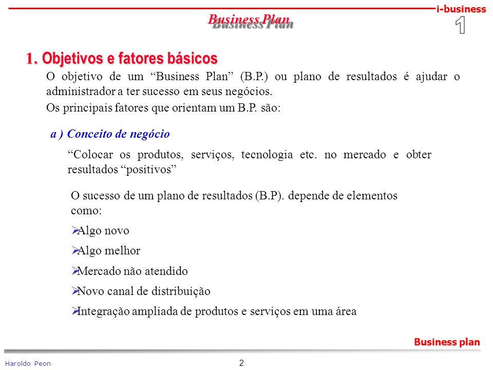 1. Objetivos e fatores básicos