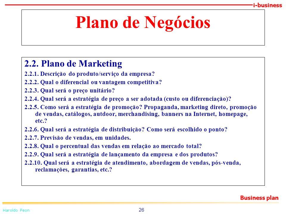 Plano de Negócios 2.2. Plano de Marketing