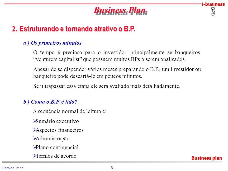 Business Plan 2. Estruturando e tornando atrativo o B.P. 5