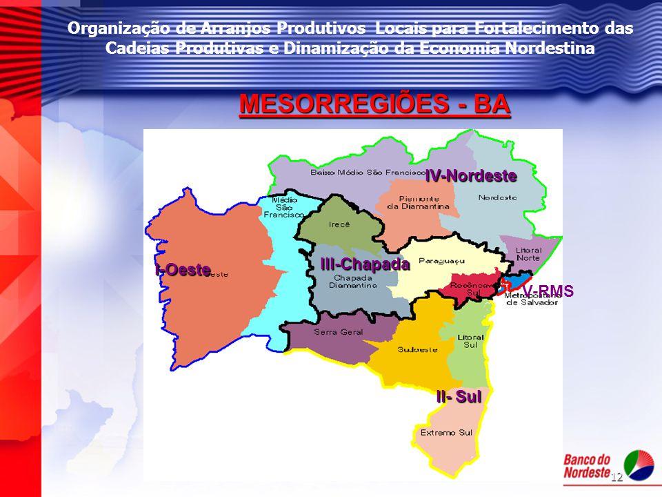 Organização de Arranjos Produtivos Locais para Fortalecimento das Cadeias Produtivas e Dinamização da Economia Nordestina