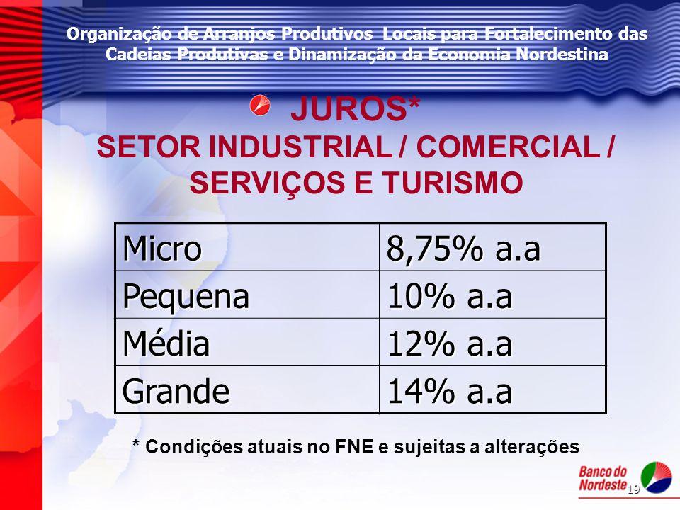 SETOR INDUSTRIAL / COMERCIAL / SERVIÇOS E TURISMO
