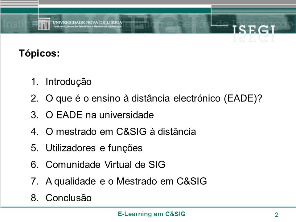 O que é o ensino à distância electrónico (EADE)