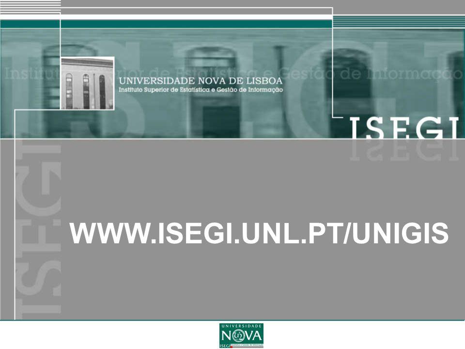 WWW.ISEGI.UNL.PT/UNIGIS Miguel Peixoto