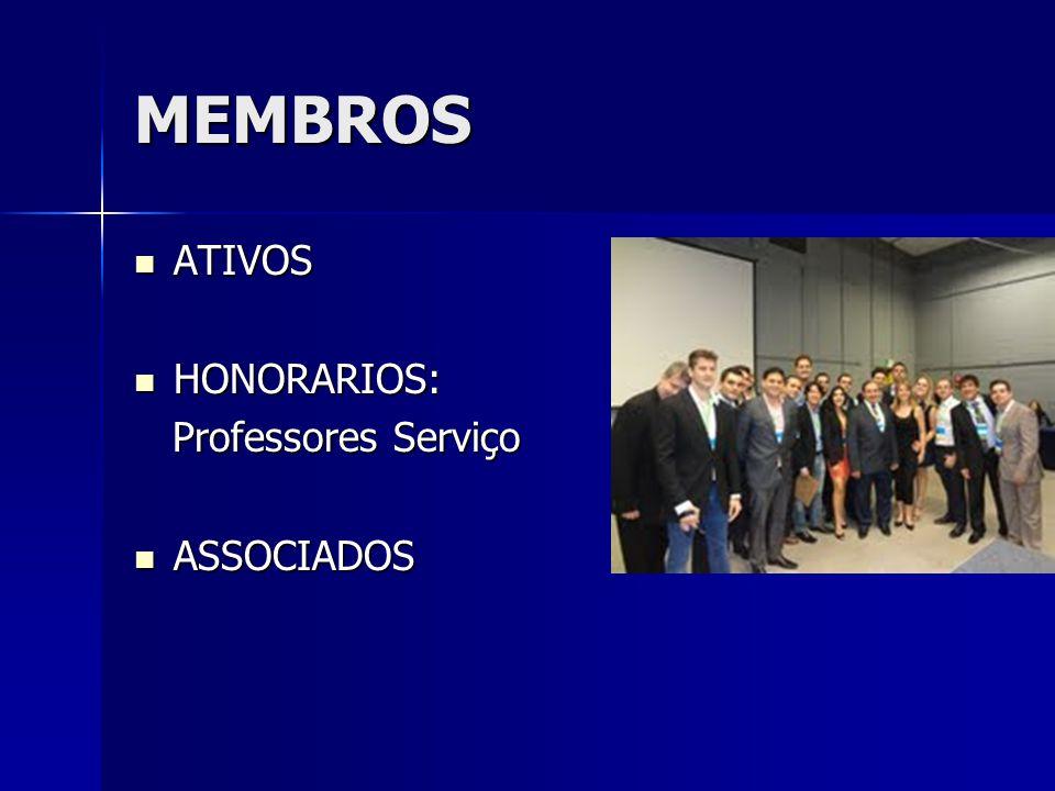 MEMBROS ATIVOS HONORARIOS: Professores Serviço ASSOCIADOS