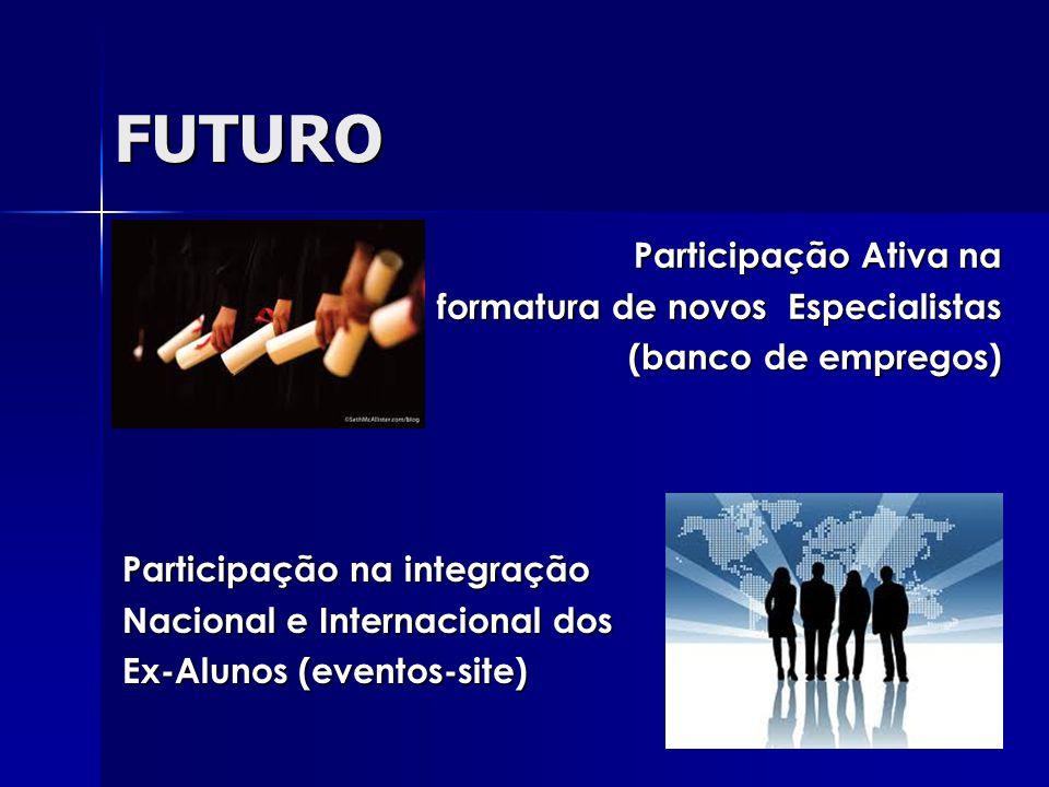 FUTURO Participação Ativa na formatura de novos Especialistas