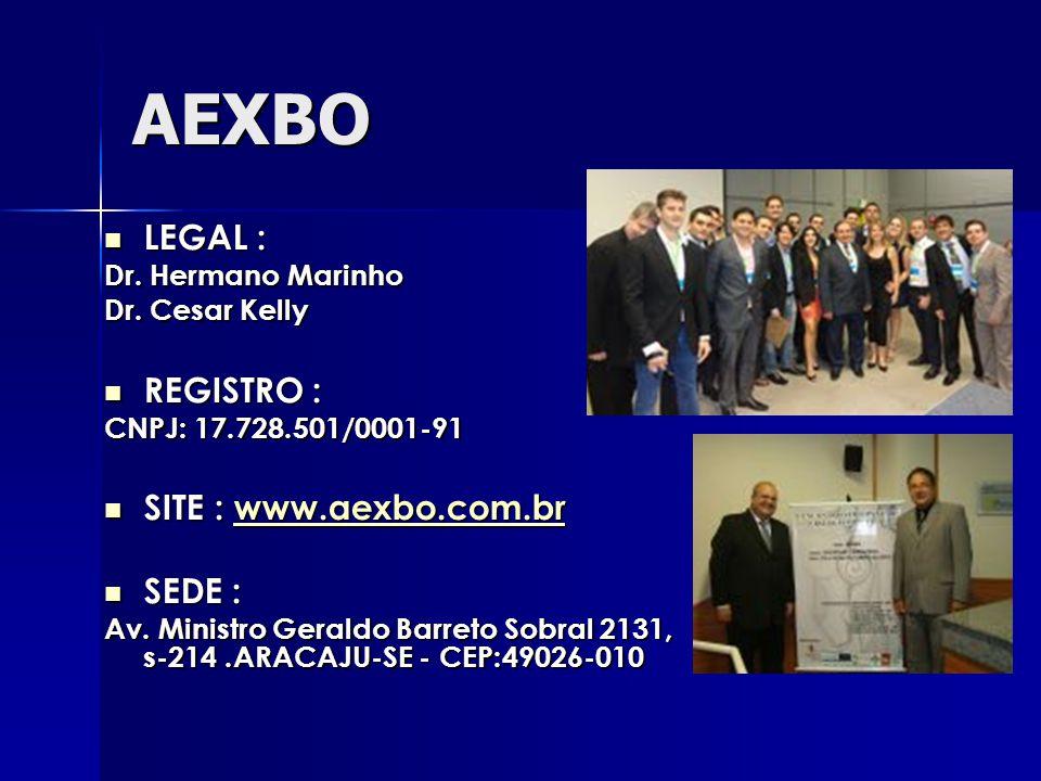 AEXBO LEGAL : REGISTRO : SITE : www.aexbo.com.br SEDE :