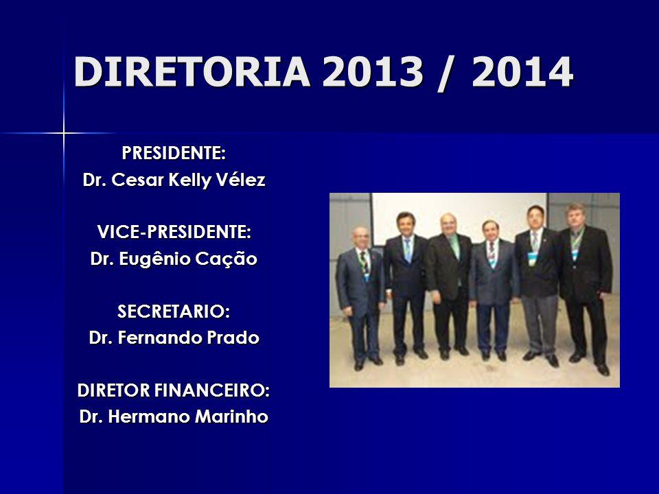 DIRETORIA 2013 / 2014 PRESIDENTE: Dr. Cesar Kelly Vélez