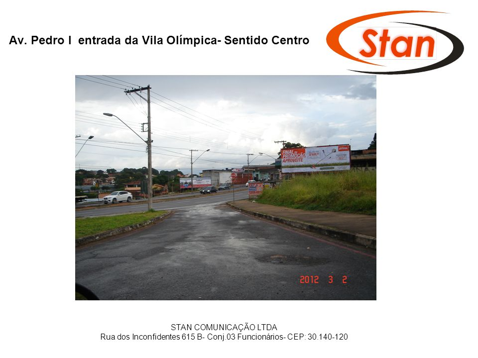 Av. Pedro I entrada da Vila Olímpica- Sentido Centro