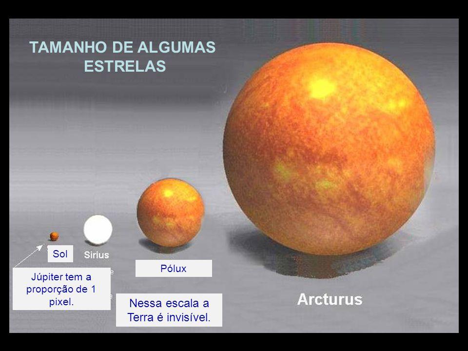 TAMANHO DE ALGUMAS ESTRELAS