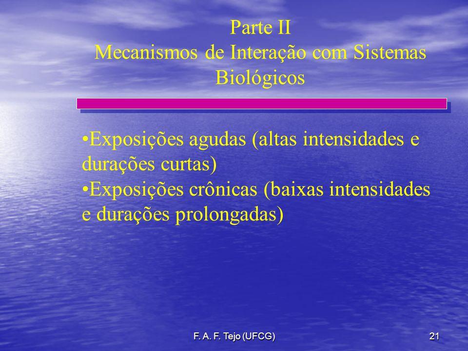 Mecanismos de Interação com Sistemas Biológicos