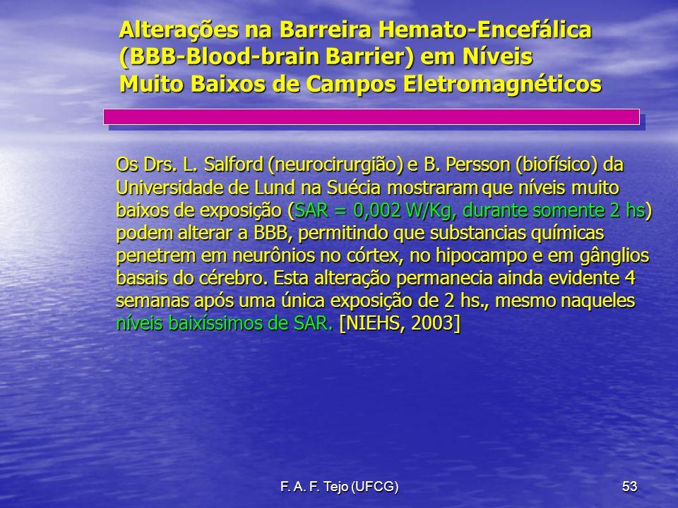 Alterações na Barreira Hemato-Encefálica (BBB-Blood-brain Barrier) em Níveis Muito Baixos de Campos Eletromagnéticos