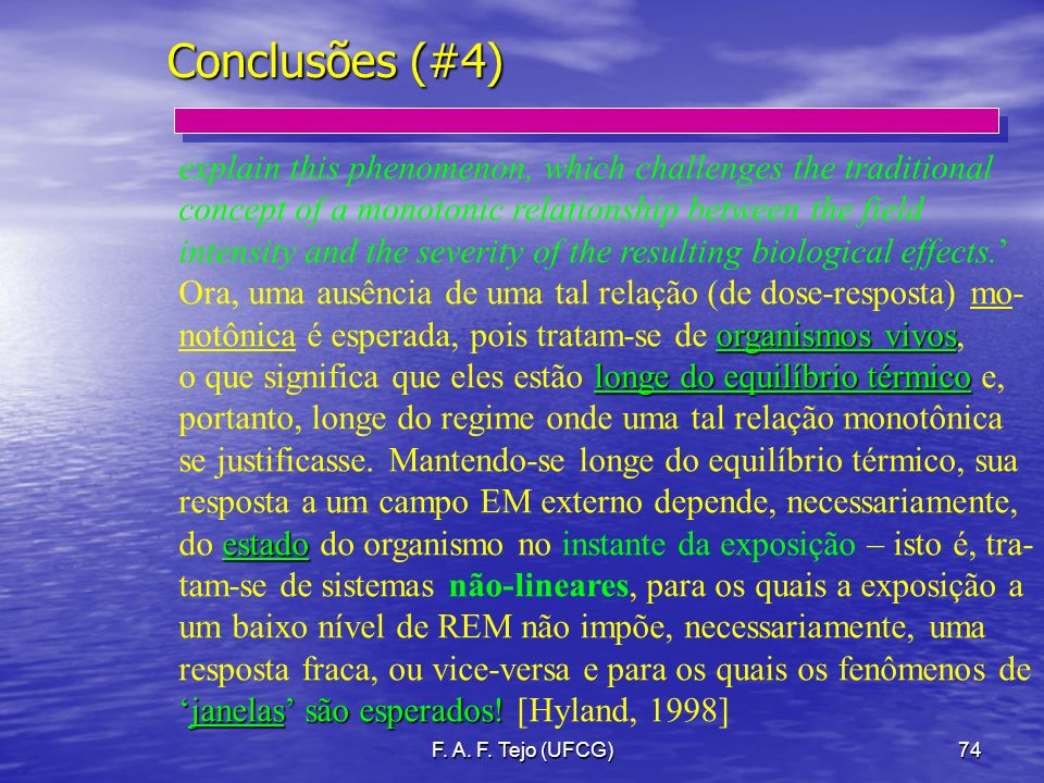 Conclusões (#4) explain this phenomenon, which challenges the traditional. concept of a monotonic relationship between the field.