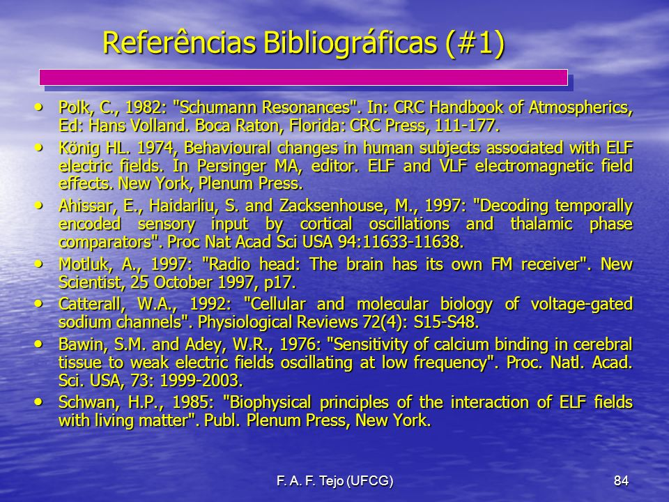 Referências Bibliográficas (#1)