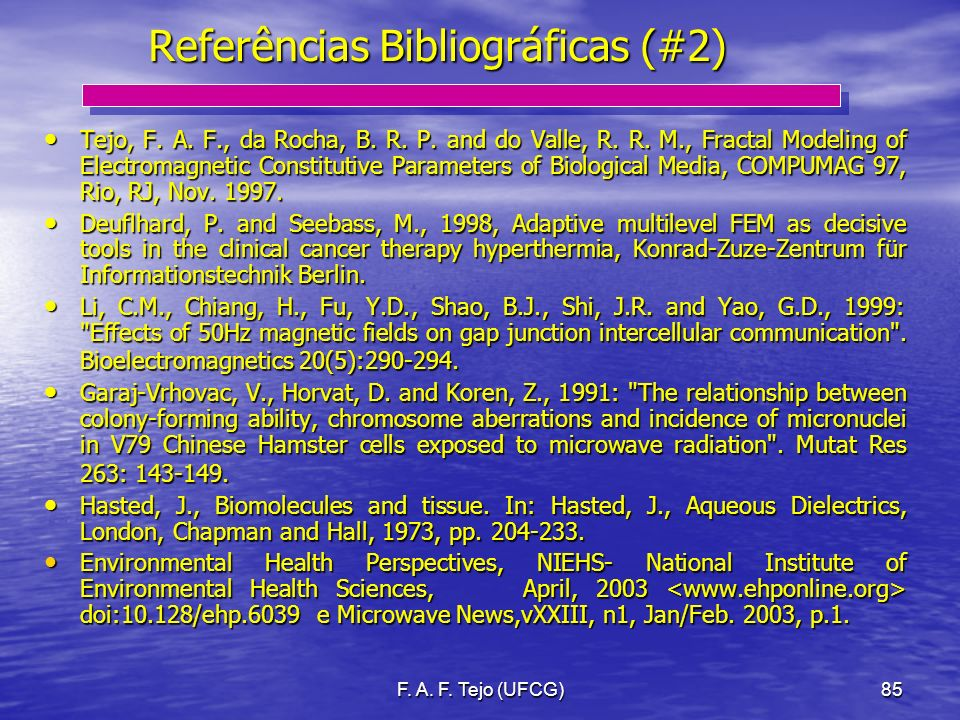 Referências Bibliográficas (#2)