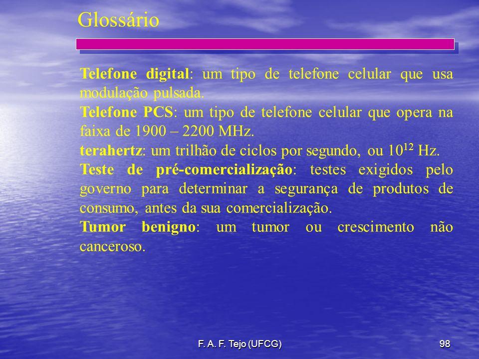 Glossário Telefone digital: um tipo de telefone celular que usa modulação pulsada.