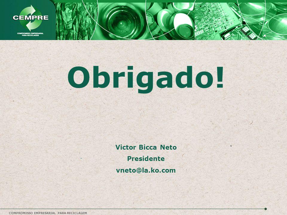 Obrigado! Victor Bicca Neto Presidente vneto@la.ko.com