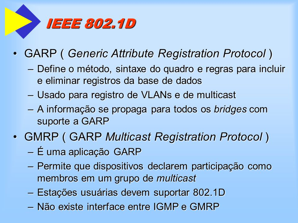 IEEE 802.1D GARP ( Generic Attribute Registration Protocol )