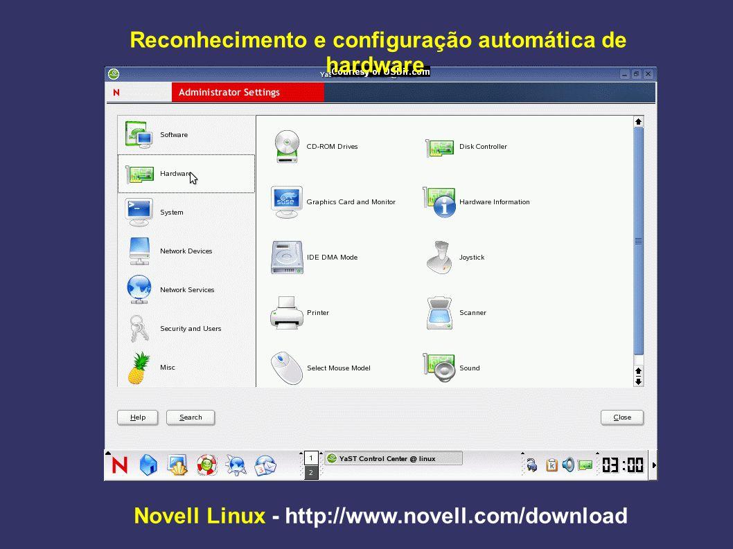 Reconhecimento e configuração automática de hardware