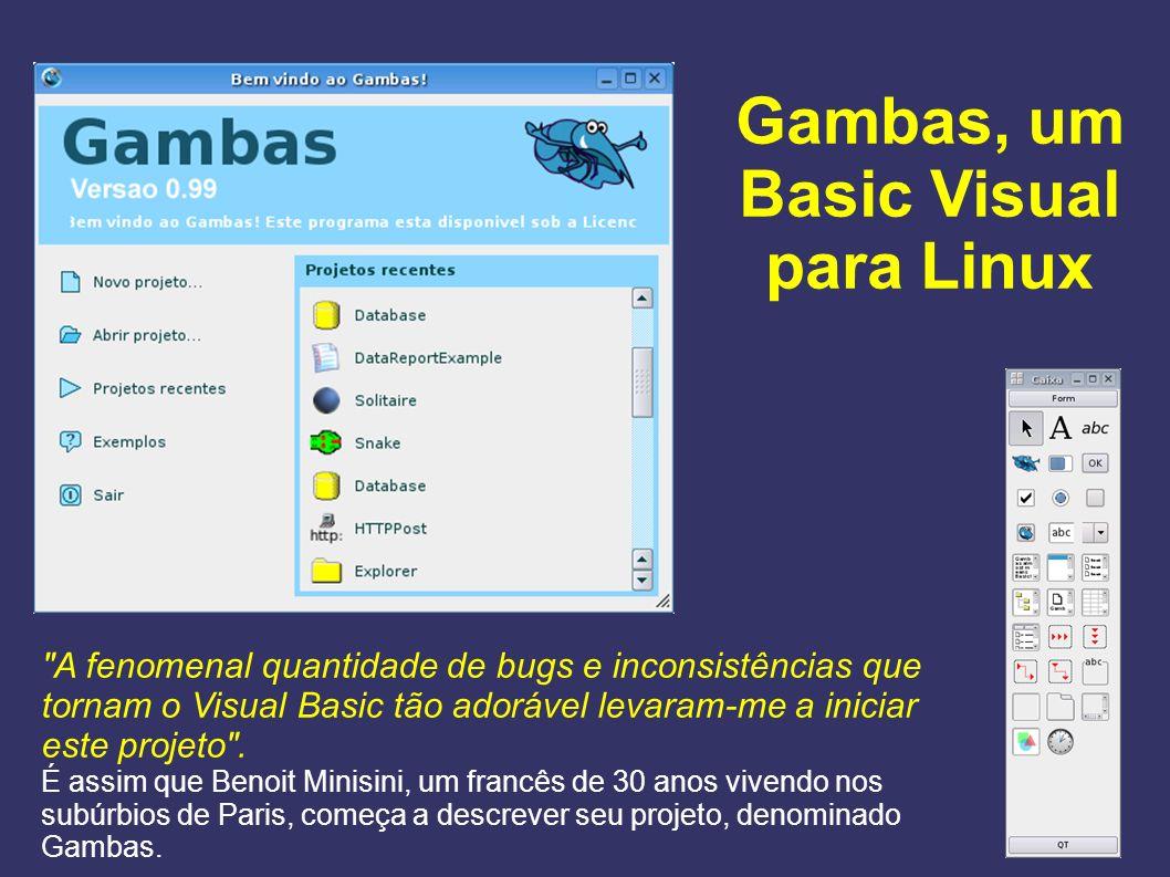 Gambas, um Basic Visual para Linux
