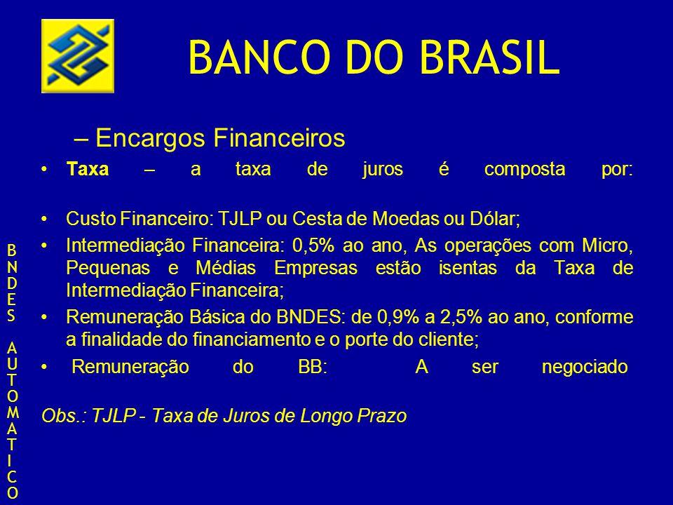 Encargos Financeiros Taxa – a taxa de juros é composta por: