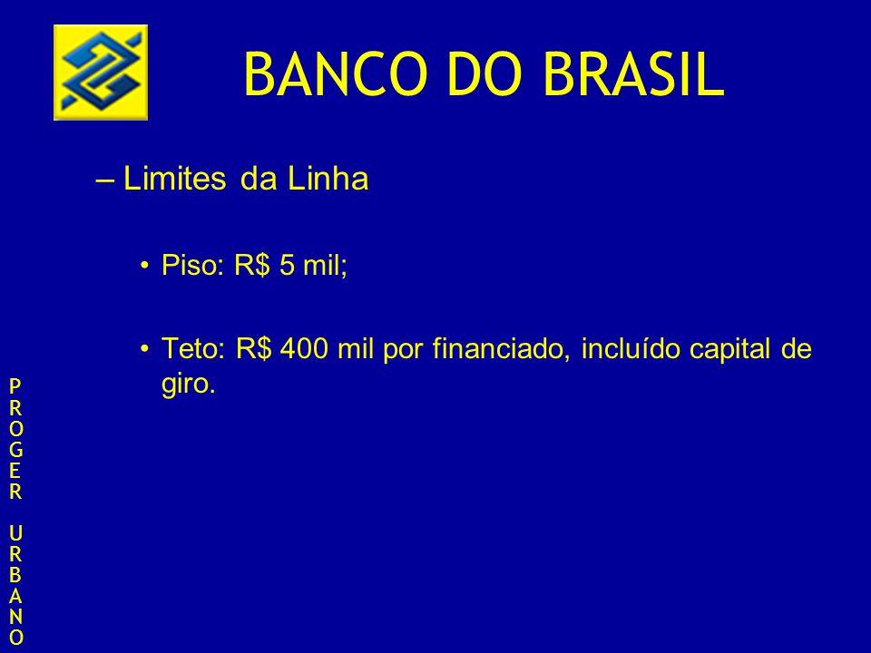 Limites da Linha Piso: R$ 5 mil;