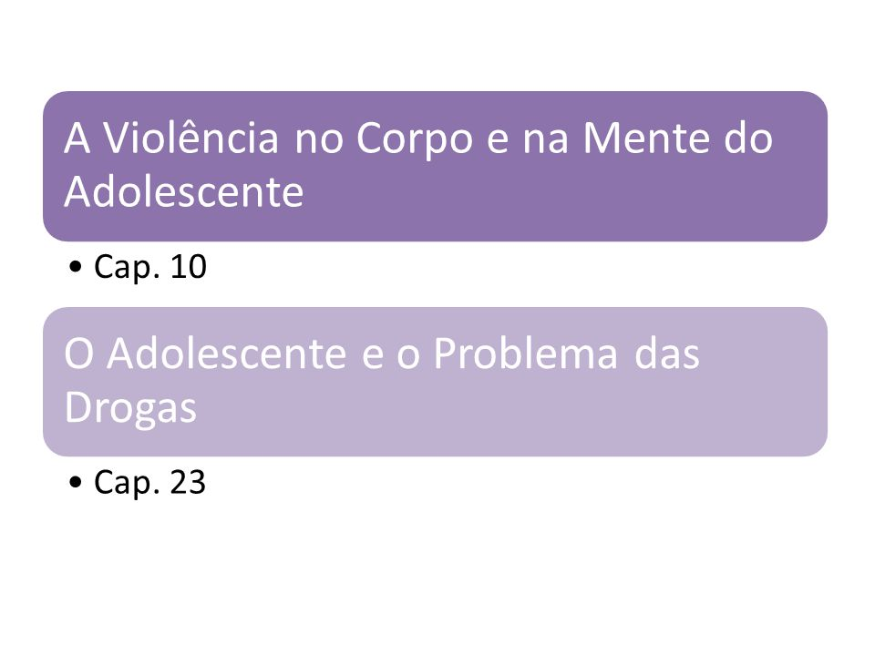 A Violência no Corpo e na Mente do Adolescente