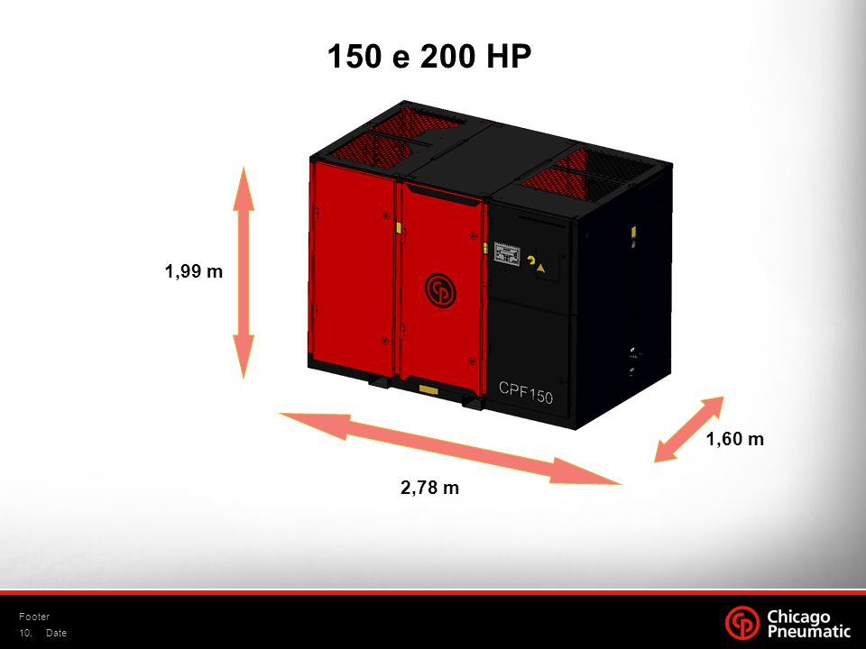 150 e 200 HP 1,99 m 1,60 m 2,78 m Footer Date