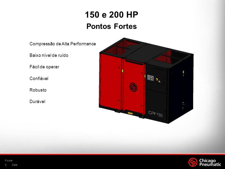 150 e 200 HP Pontos Fortes Compressão de Alta Performance