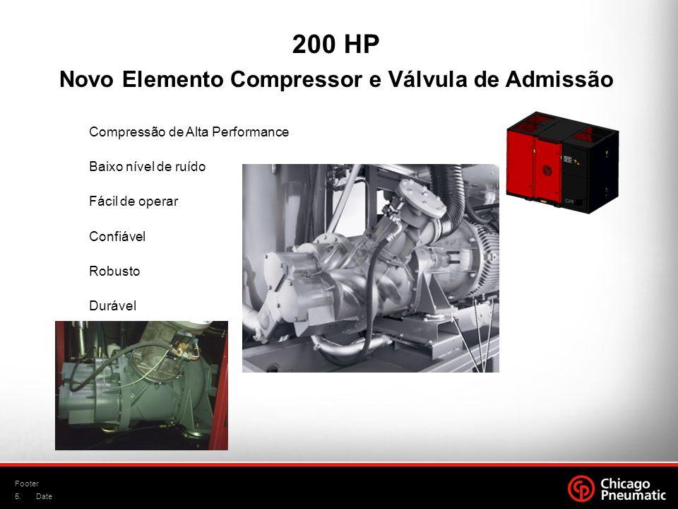 Novo Elemento Compressor e Válvula de Admissão