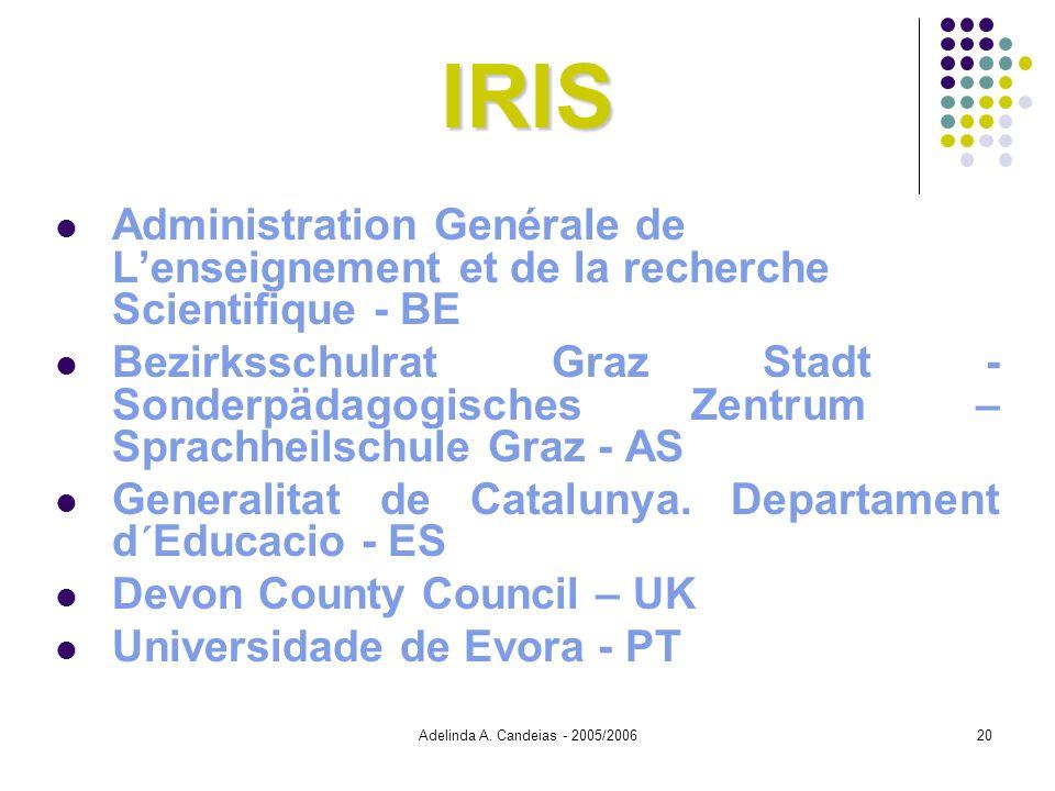 IRIS Administration Genérale de L'enseignement et de la recherche Scientifique - BE.