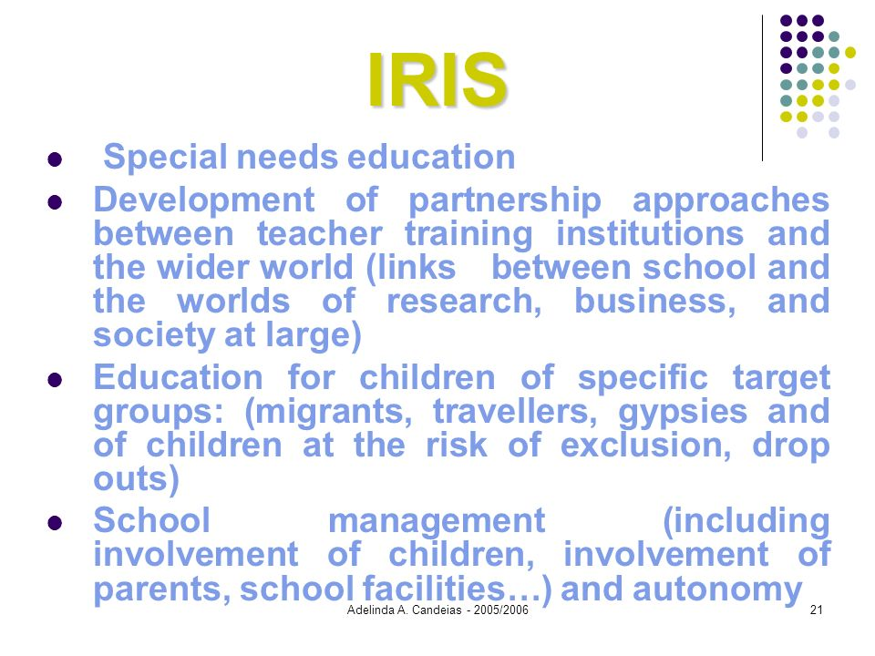 IRIS Special needs education