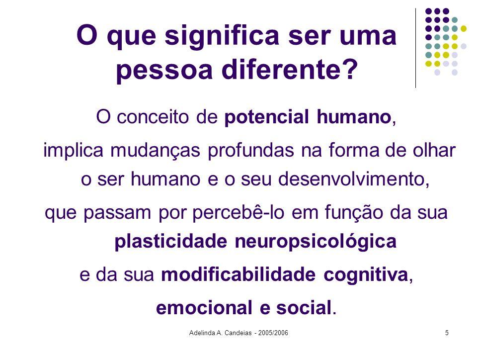 O que significa ser uma pessoa diferente