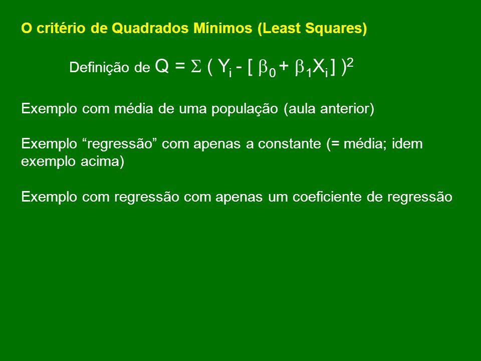 O critério de Quadrados Mínimos (Least Squares)