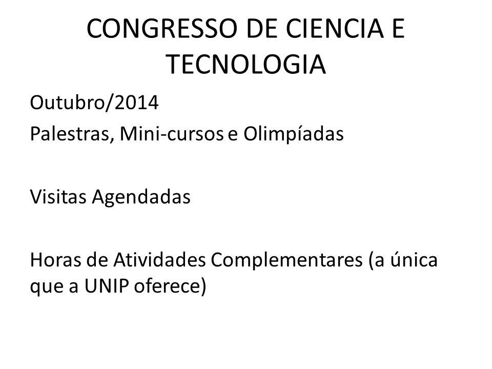 CONGRESSO DE CIENCIA E TECNOLOGIA