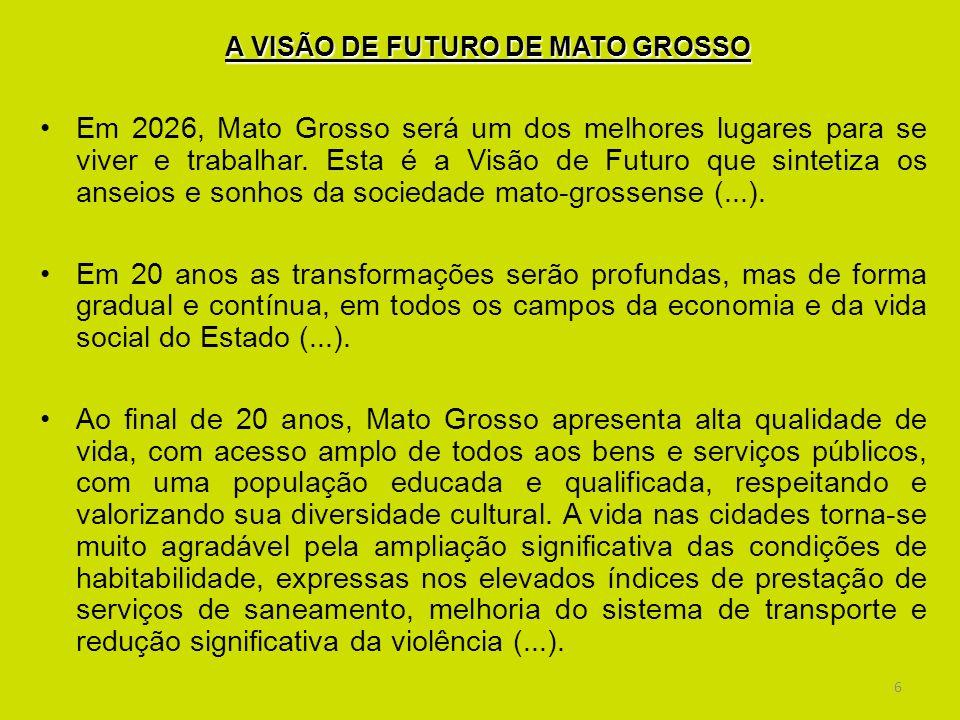 A VISÃO DE FUTURO DE MATO GROSSO