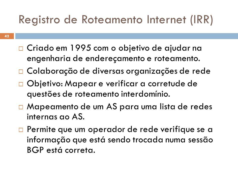 Registro de Roteamento Internet (IRR)